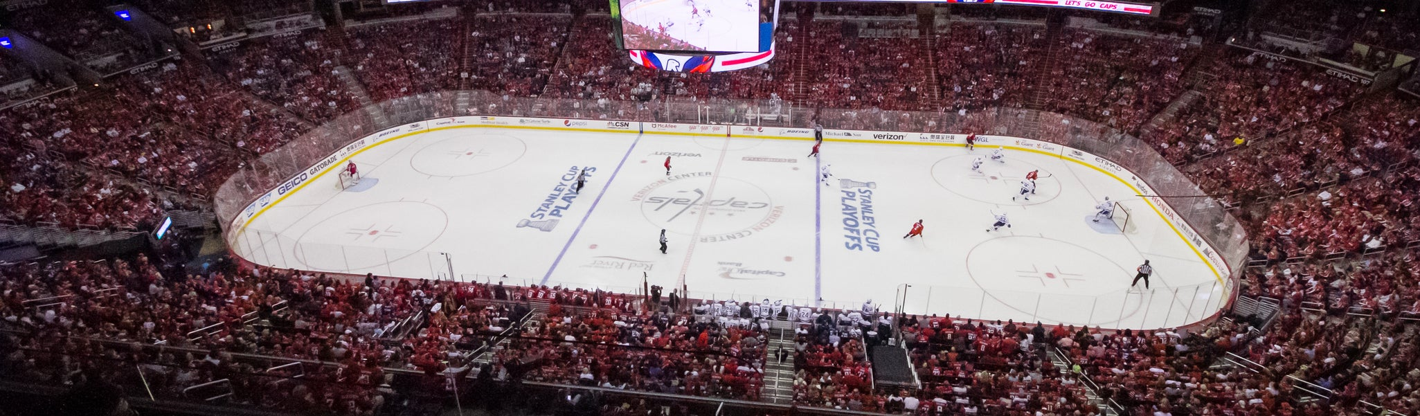 Seat view from Mezzanine Center 401 at Capital One Arena