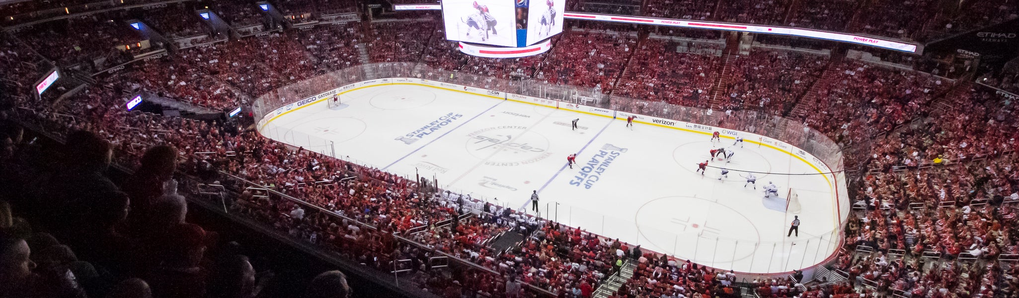 Seat view from Mezzanine Center 402 at Capital One Arena