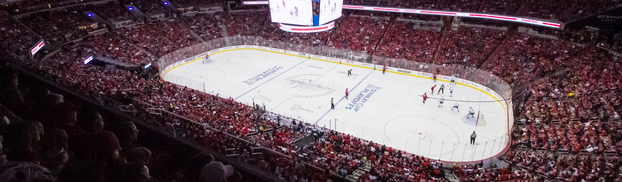 Seat view from Mezzanine Corner 403 at Capital One Arena