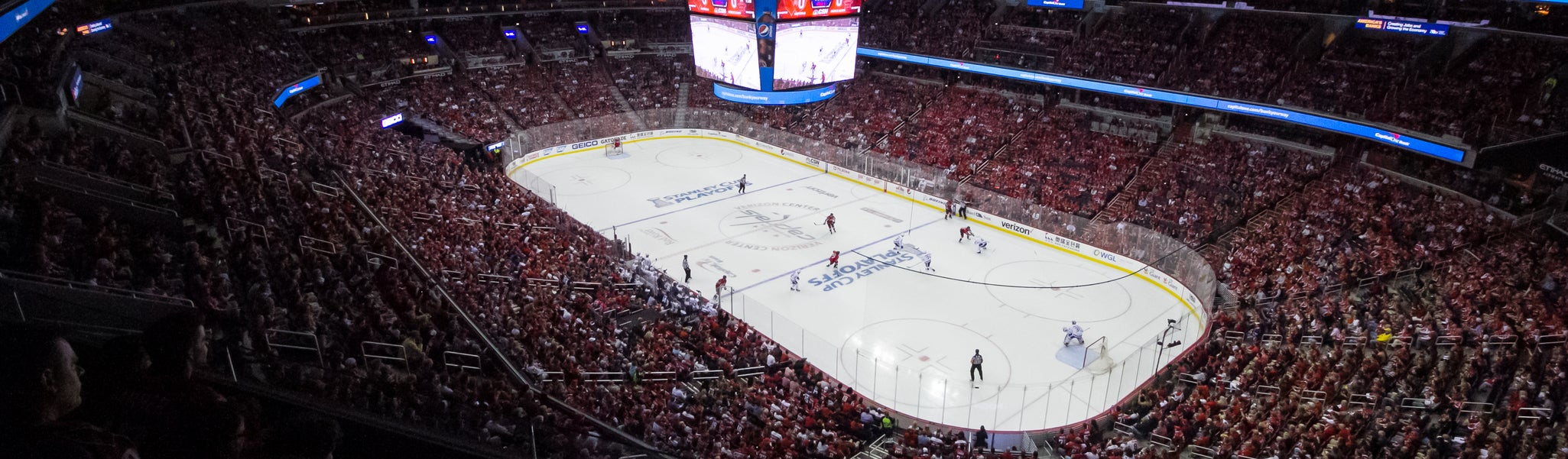 Seat view from Mezzanine Corner 404 at Capital One Arena