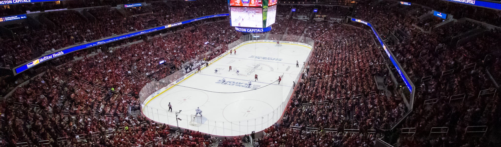 Seat view from Mezzanine End 411 at Capital One Arena