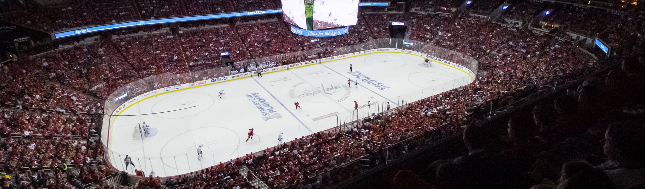 Seat view from Mezzanine Center 415 at Capital One Arena