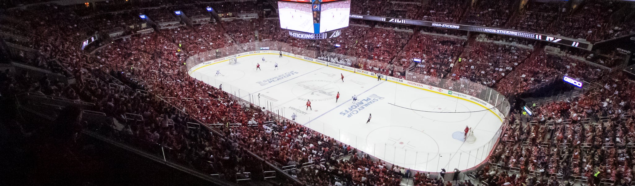 Seat view from Mezzanine Corner 421 at Capital One Arena