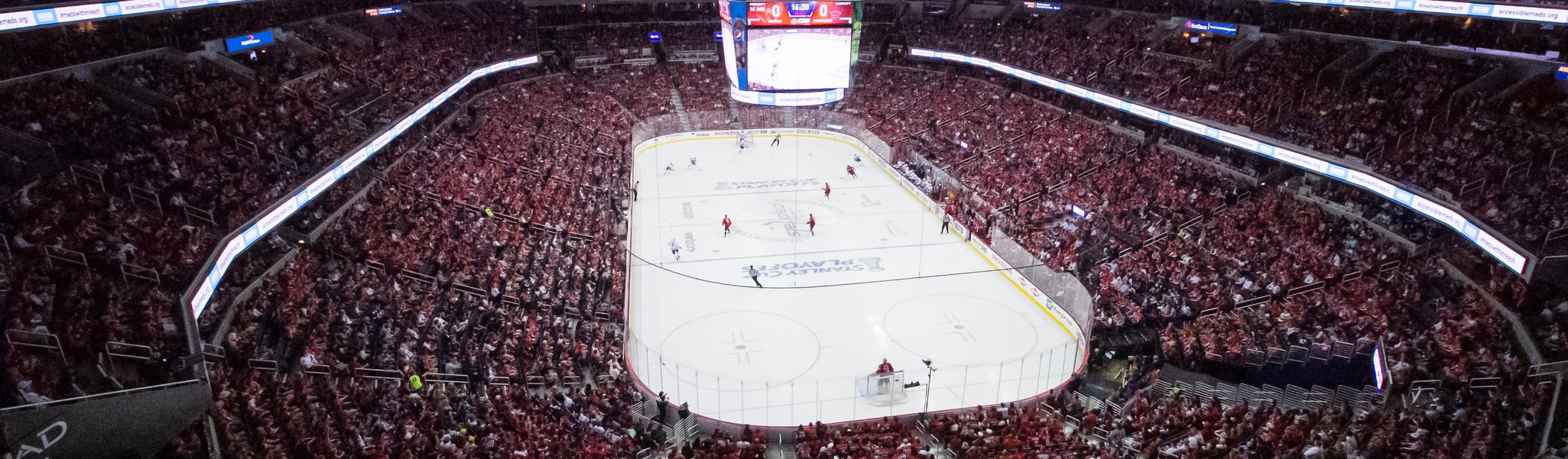 Seat view from Mezzanine End 424 at Capital One Arena