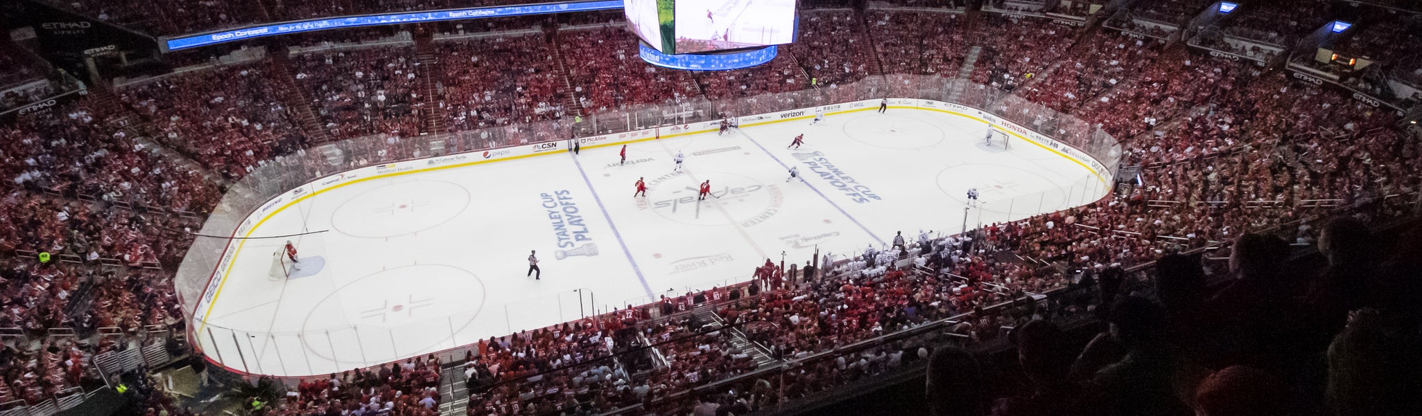 Seat view from Mezzanine Corner 432 at Capital One Arena