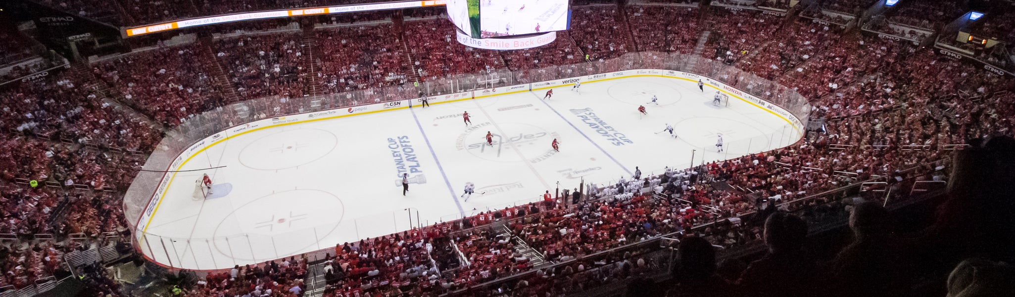 Seat view from Mezzanine Corner 433 at Capital One Arena