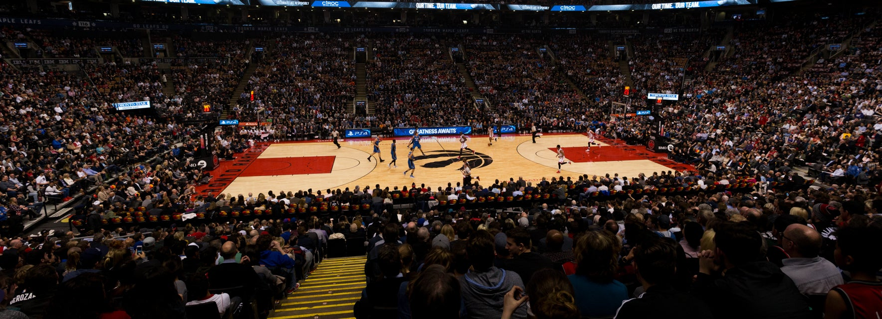 Seat view from Gold Center