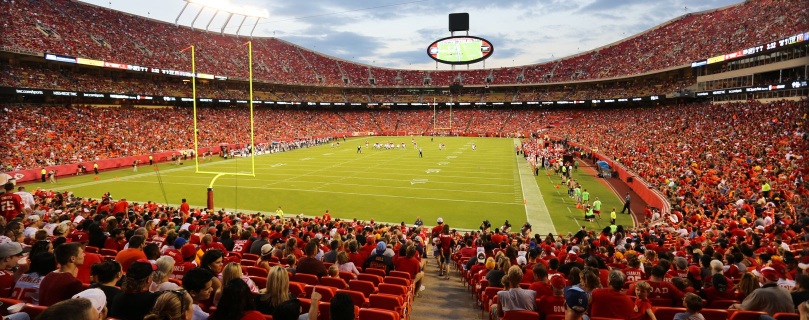 Seat view from Field Touchdown