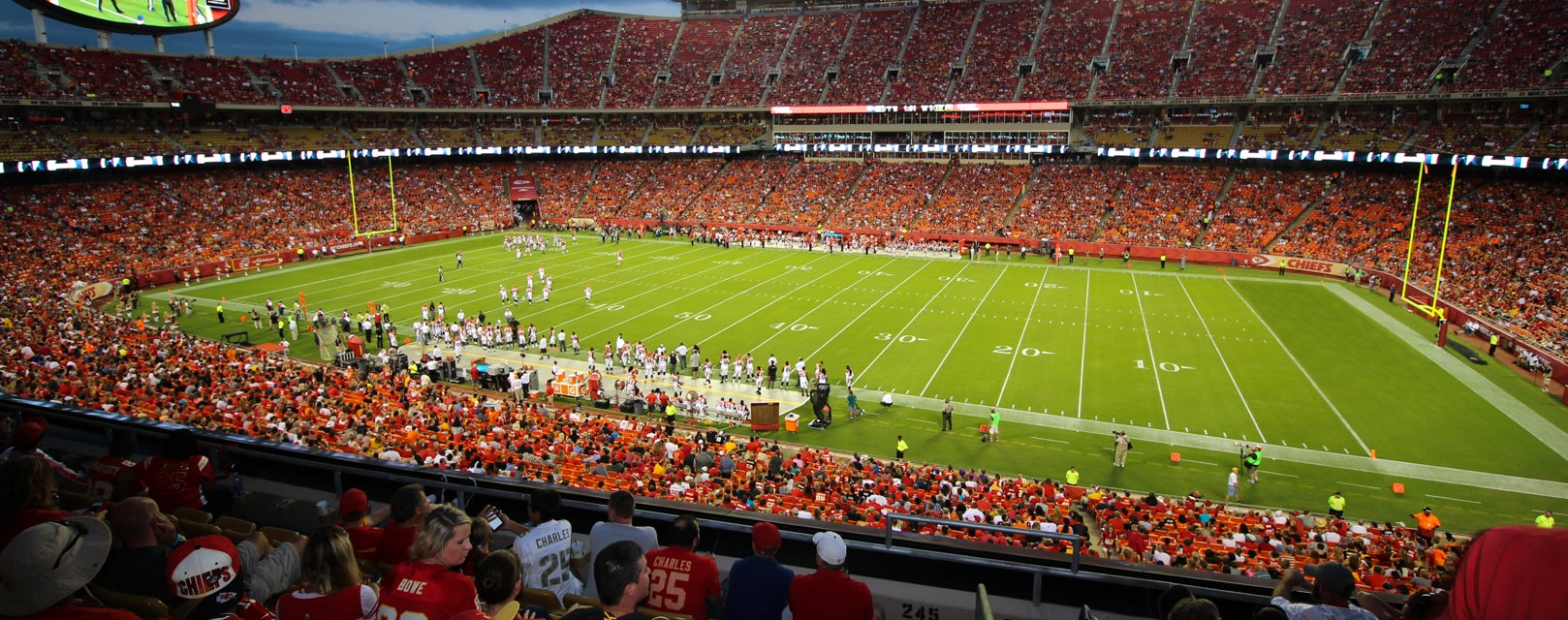 Seat view from Club Touchdown