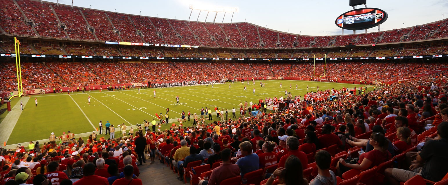 Seat view from Field Red Zone