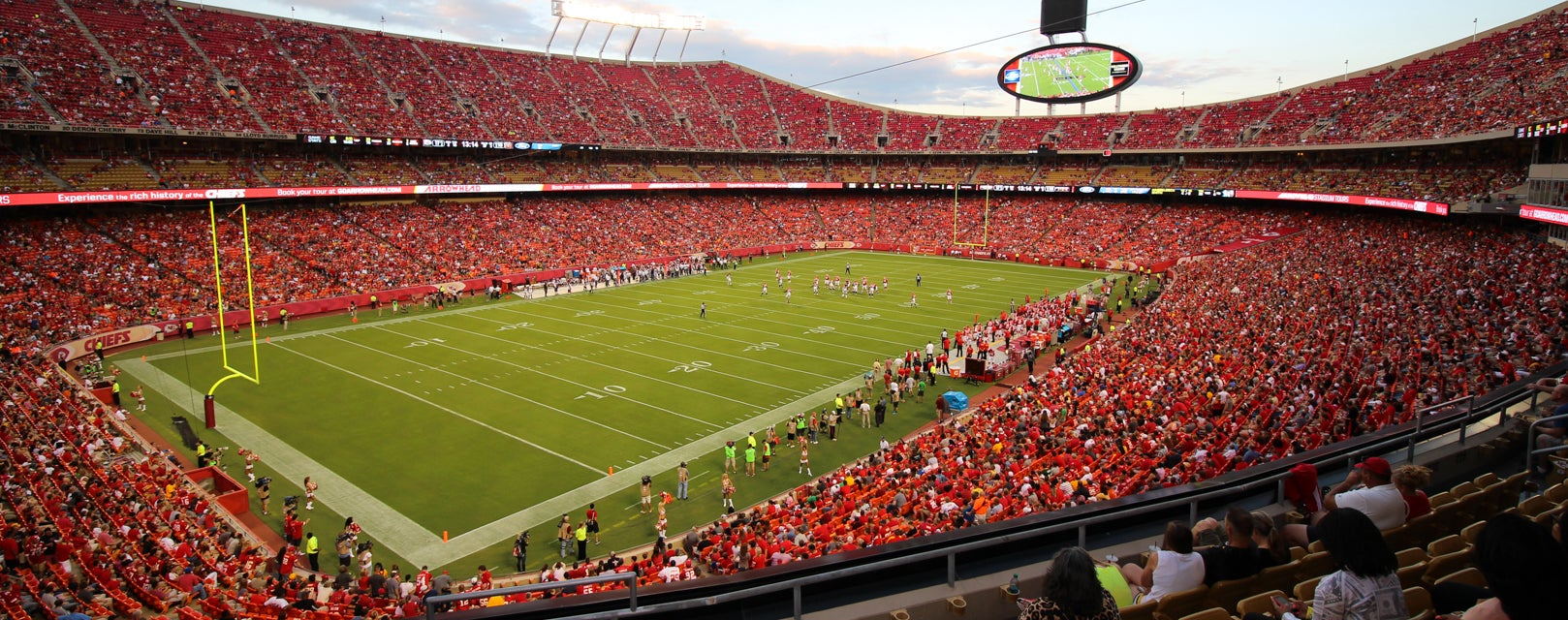 Seat view from Club Red Zone