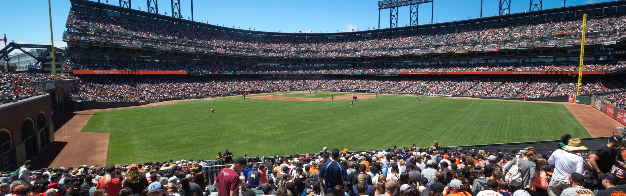 Seat view from Center Field Bleachers