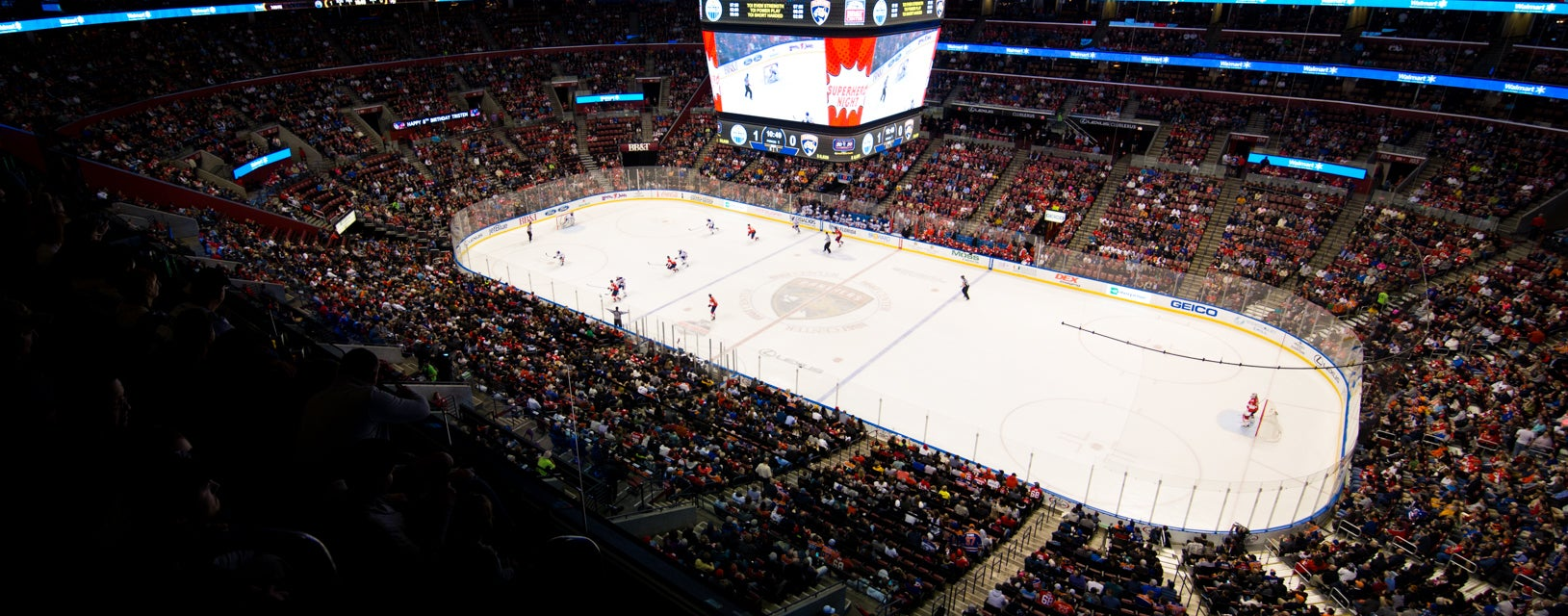 Seat view from Goal Zone