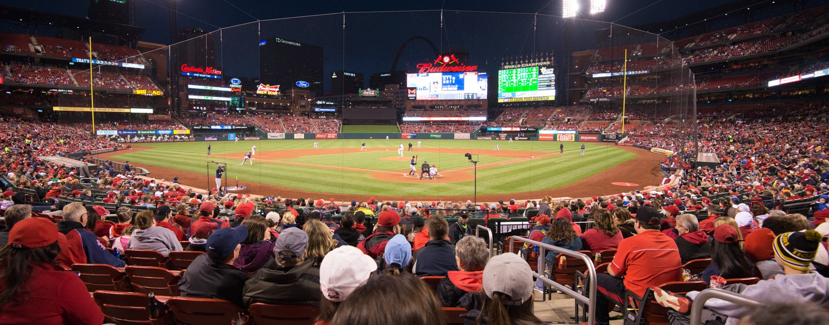 Seat view from Home Field Box