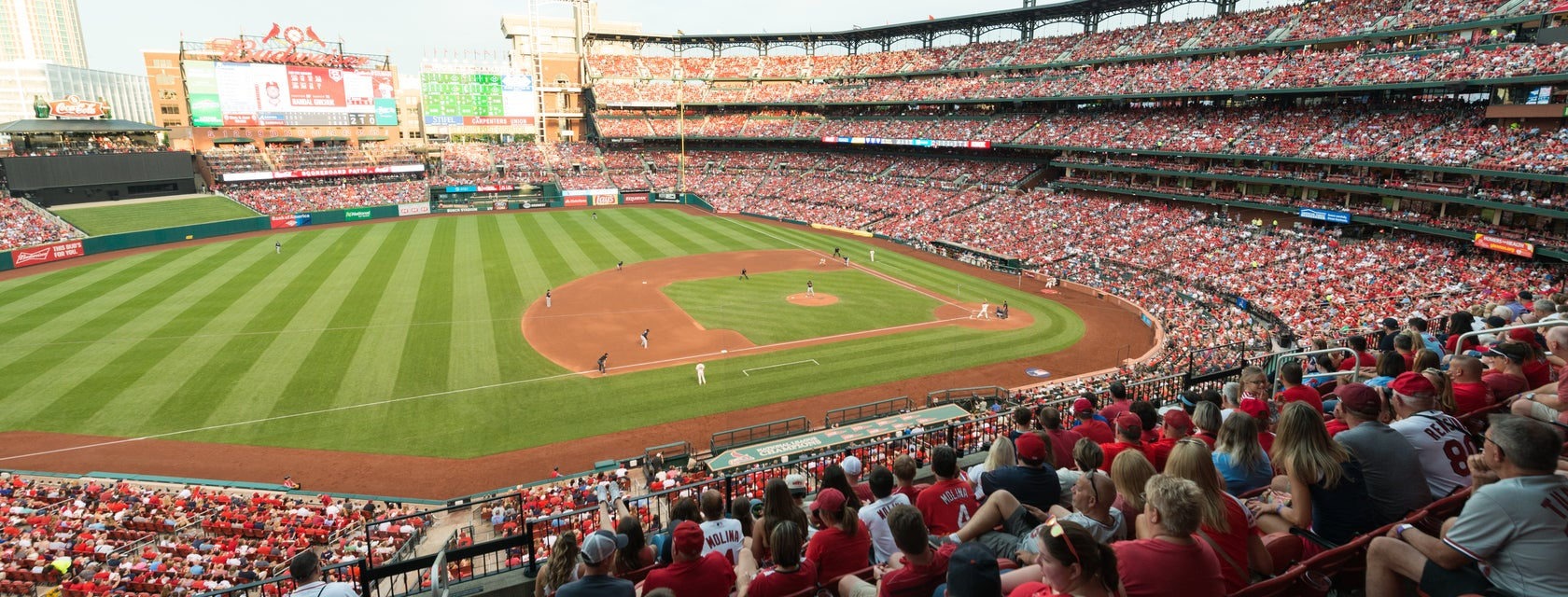 Seat view from National Rental Club