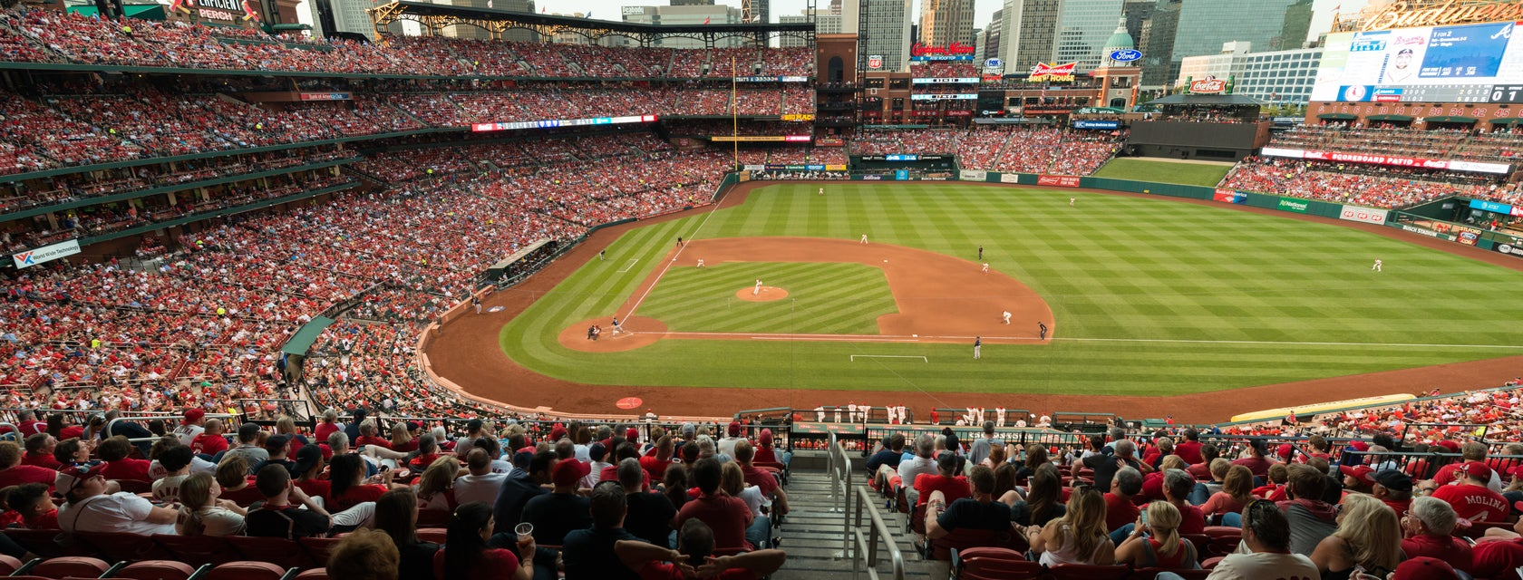 Seat view from Infield Redbird Club