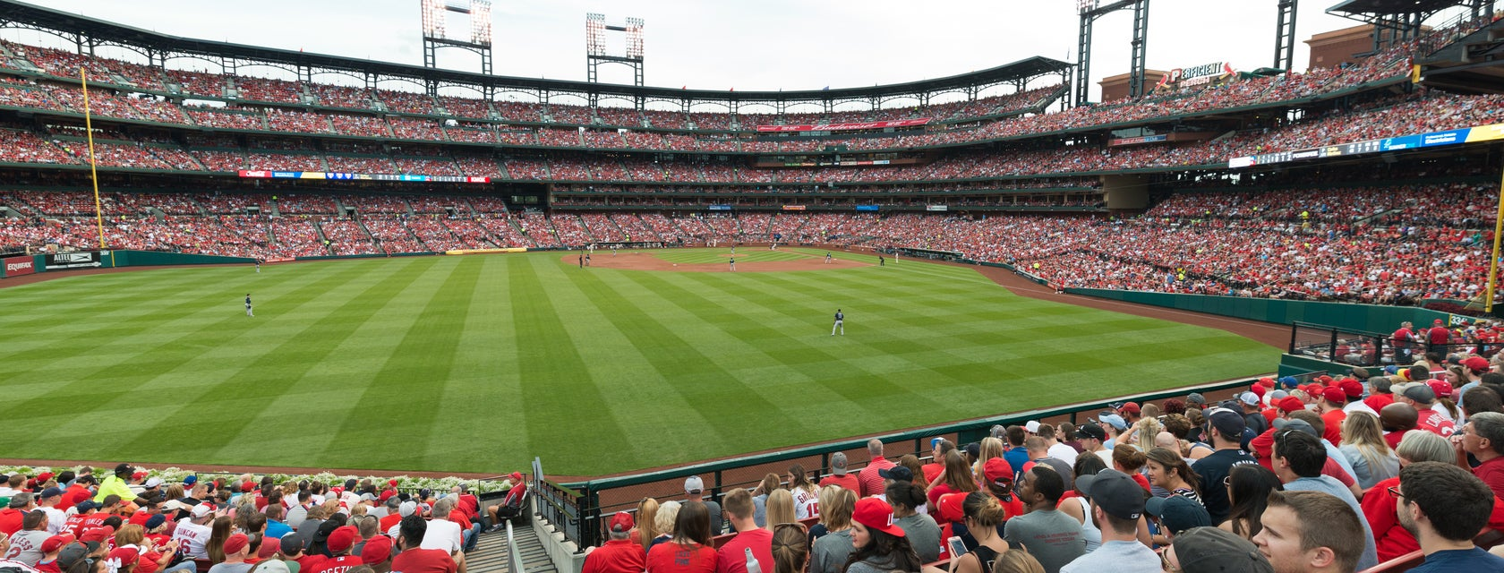 Seat view from Left Field Bleachers