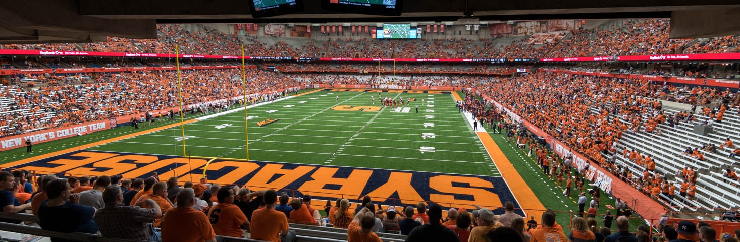 Seat view from Middle End Zone