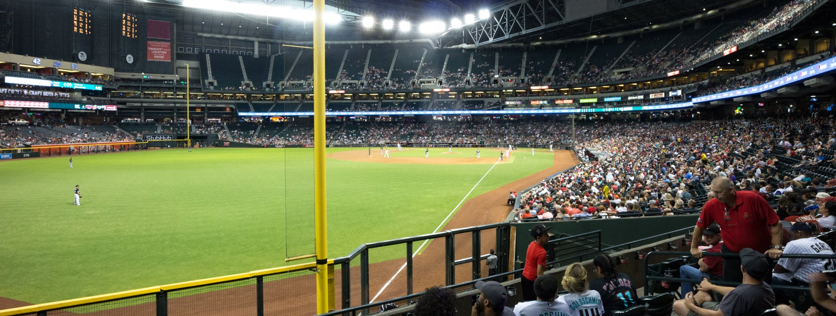 Seat view from Bullpen Reserve