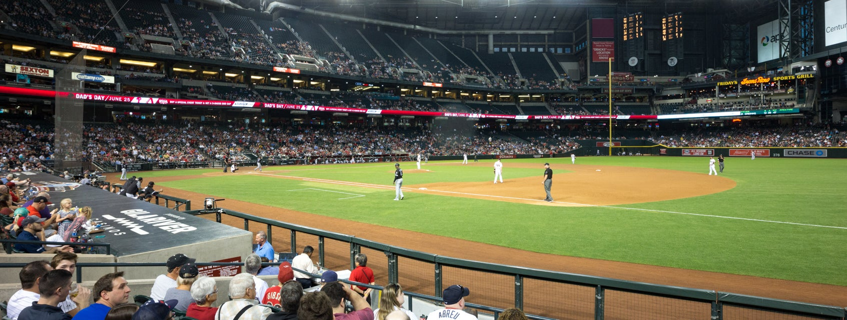 Seat view from First Base Box