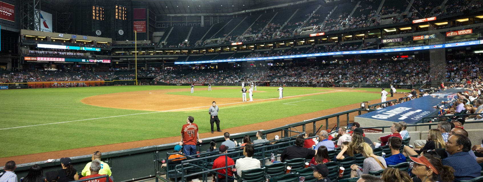 Seat view from Third Base Box