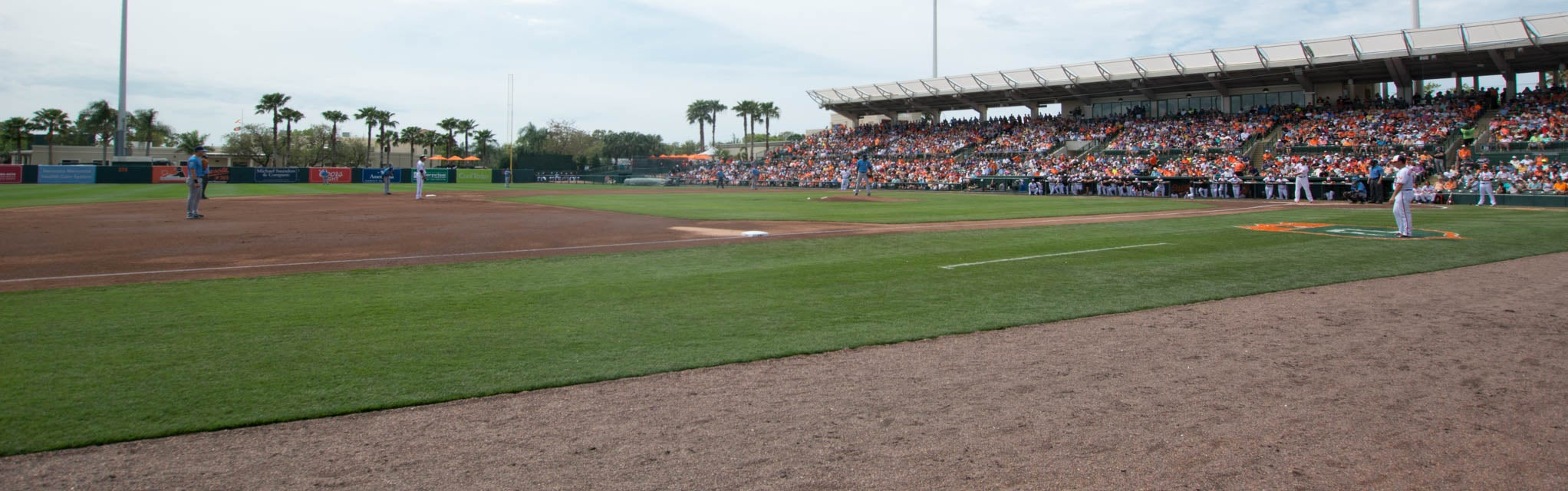 Seat view from Infield Box
