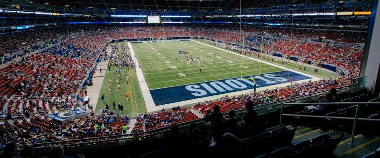 Seat view from Club End Zone