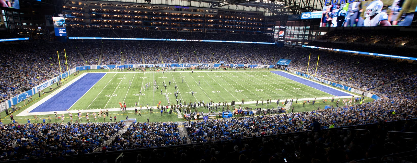 Seat view from Upper Level Club