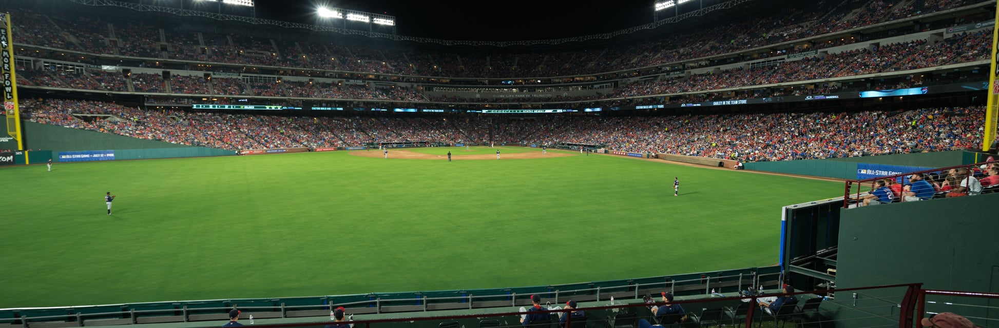 Seat view from Outfield Plaza