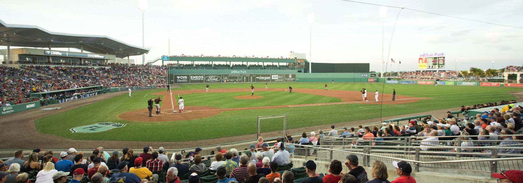 Seat view from Home Plate Box