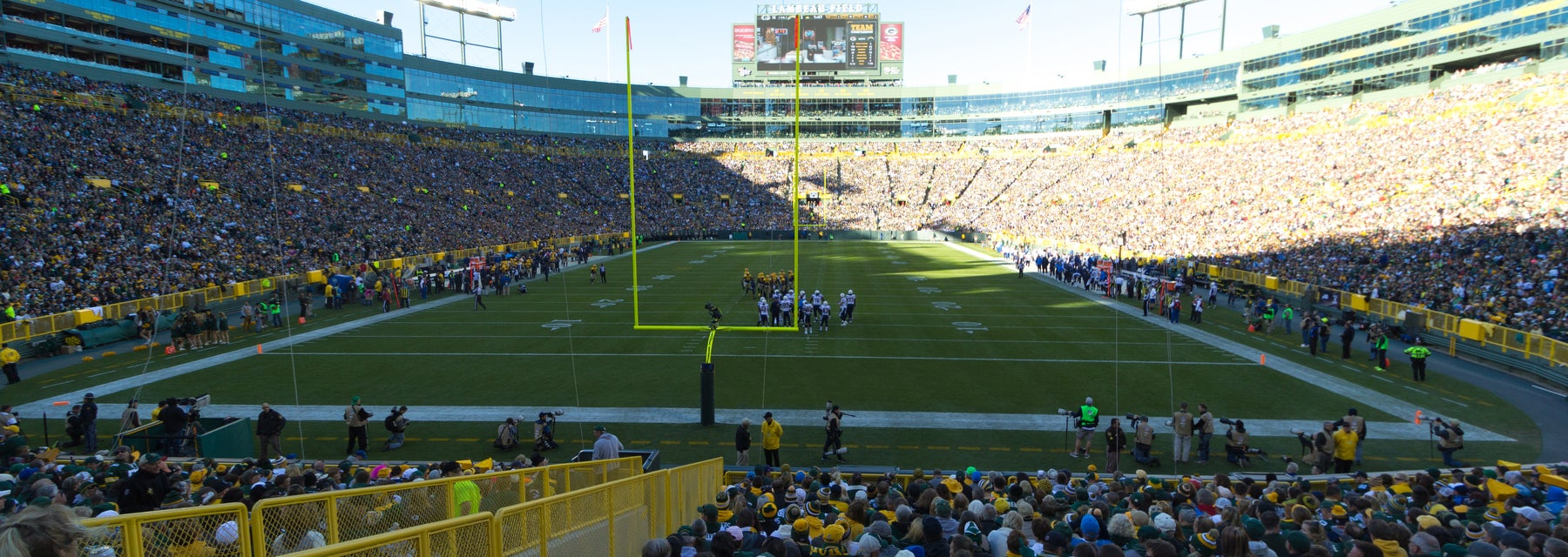 Seat view from Lower Level End Zone