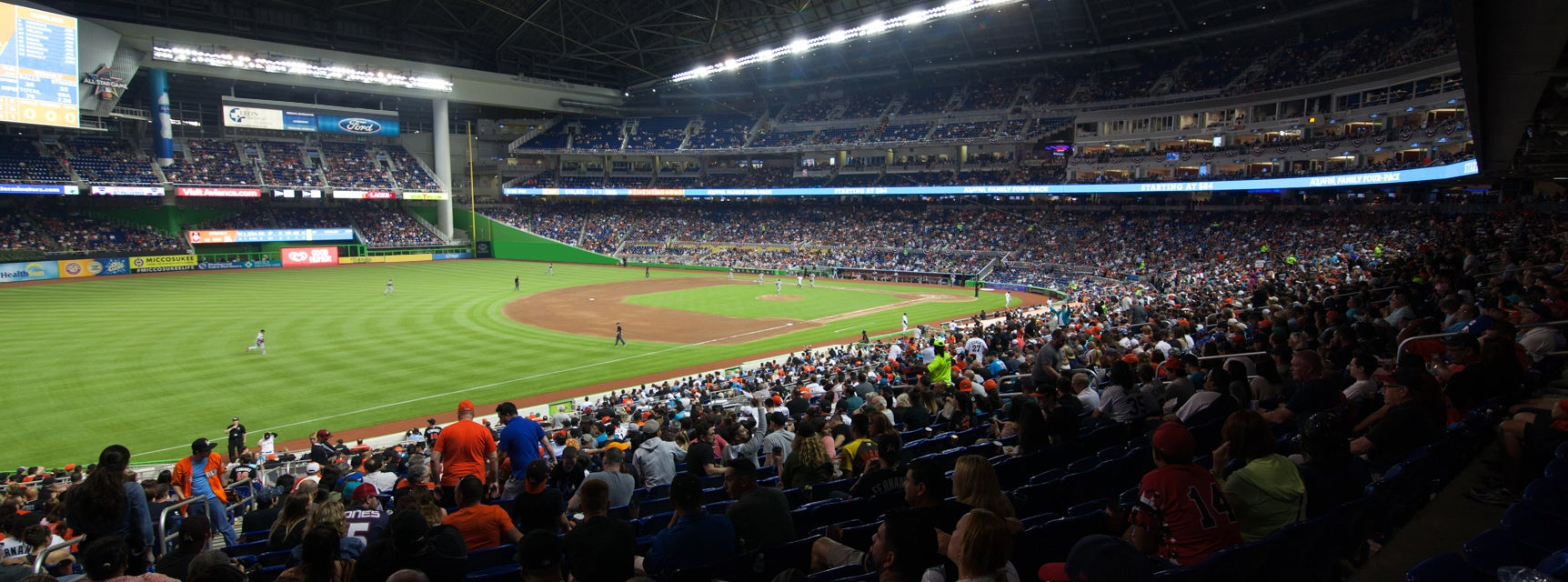 Seat view from Baseline Reserved B Third Base