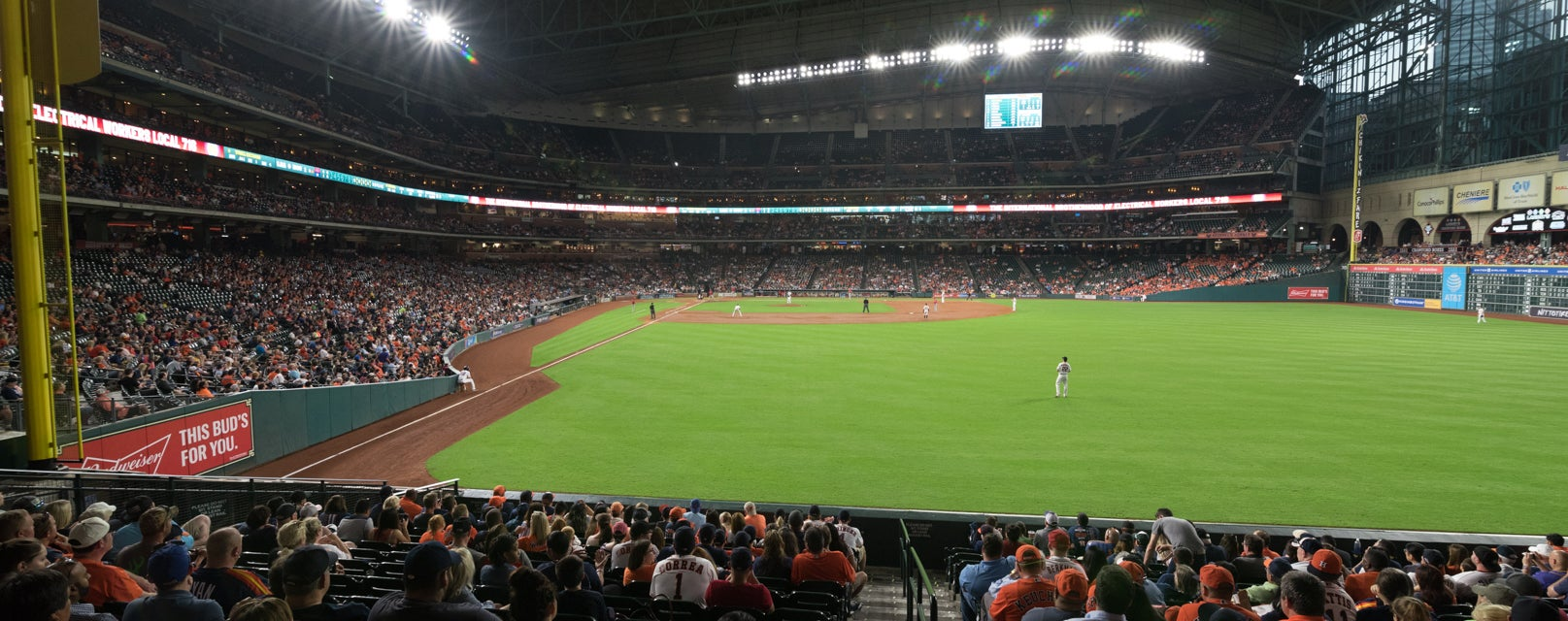 Seat view from Bullpen Box
