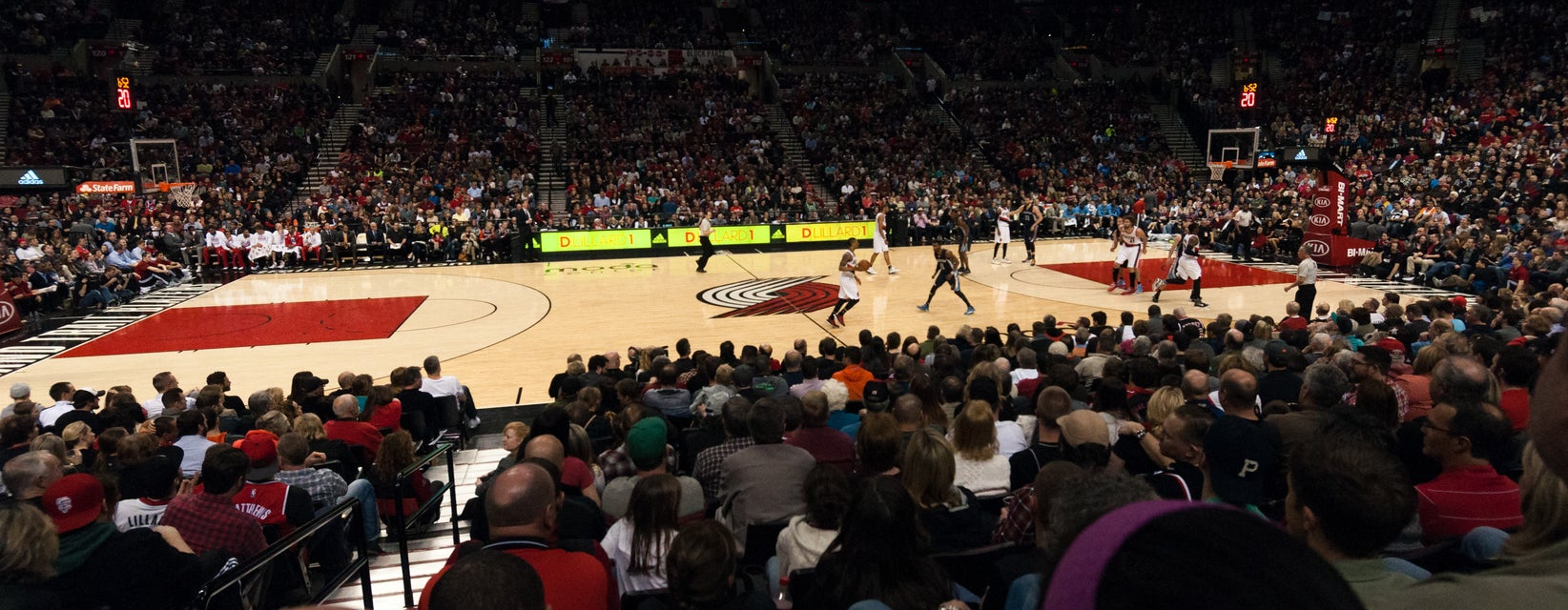 Seat view from Courtside Center