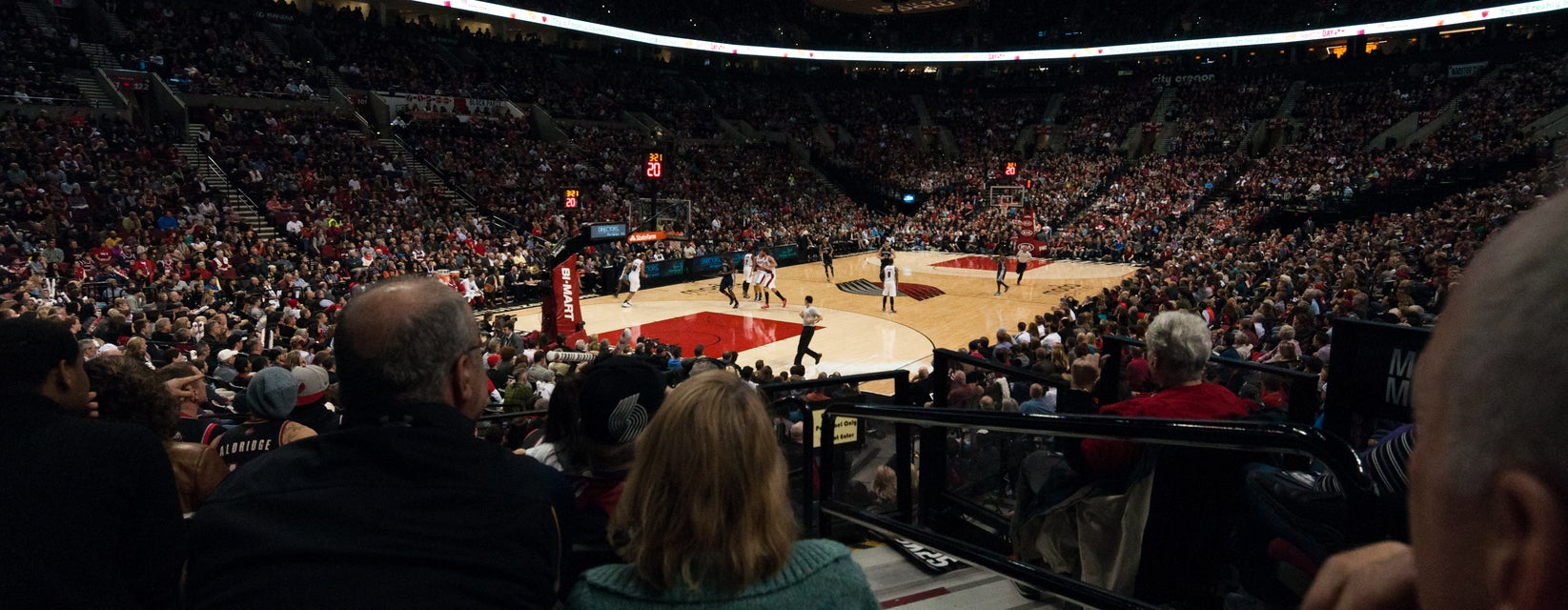 Seat view from Courtside