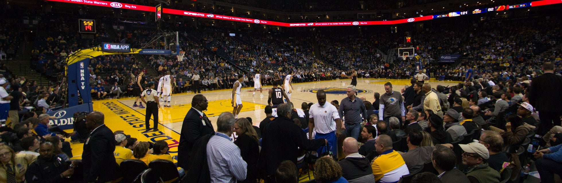 Seat view from Courtside Baseline
