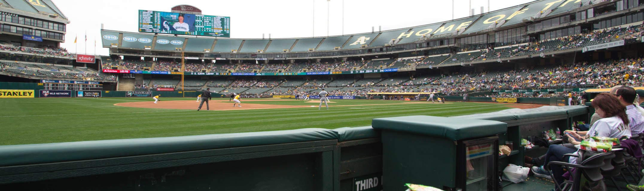 Seat view from Third Base Field Box