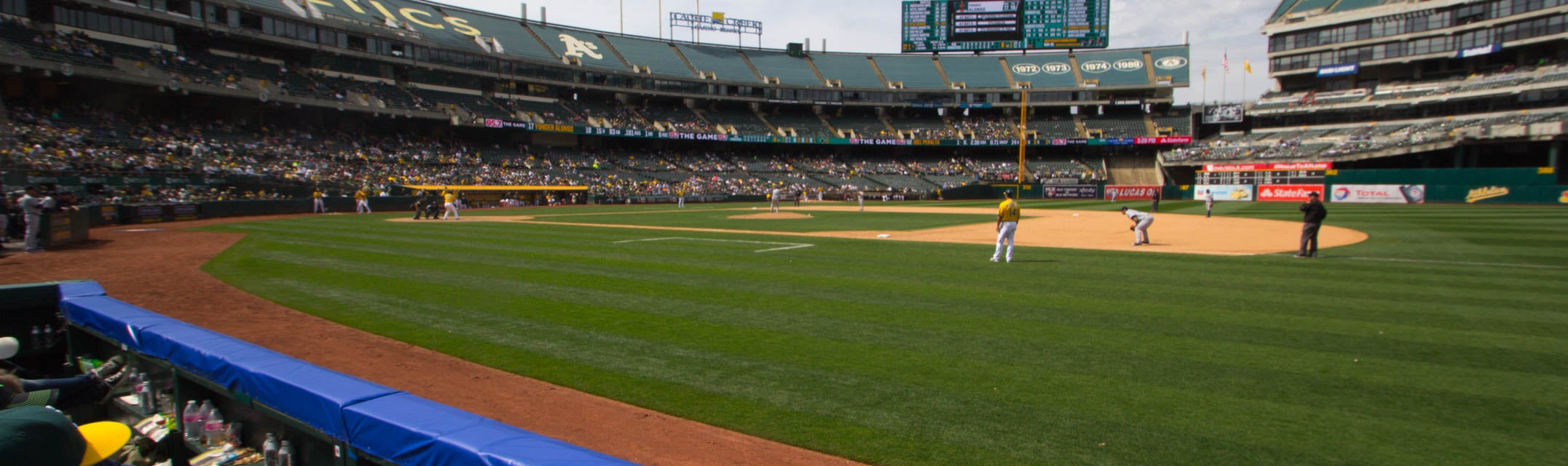 Seat view from First Base Field Box