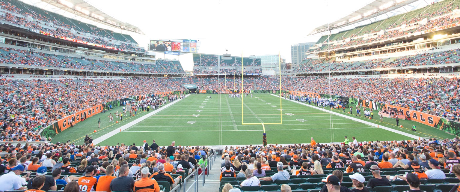 Seat view from Field End Zone