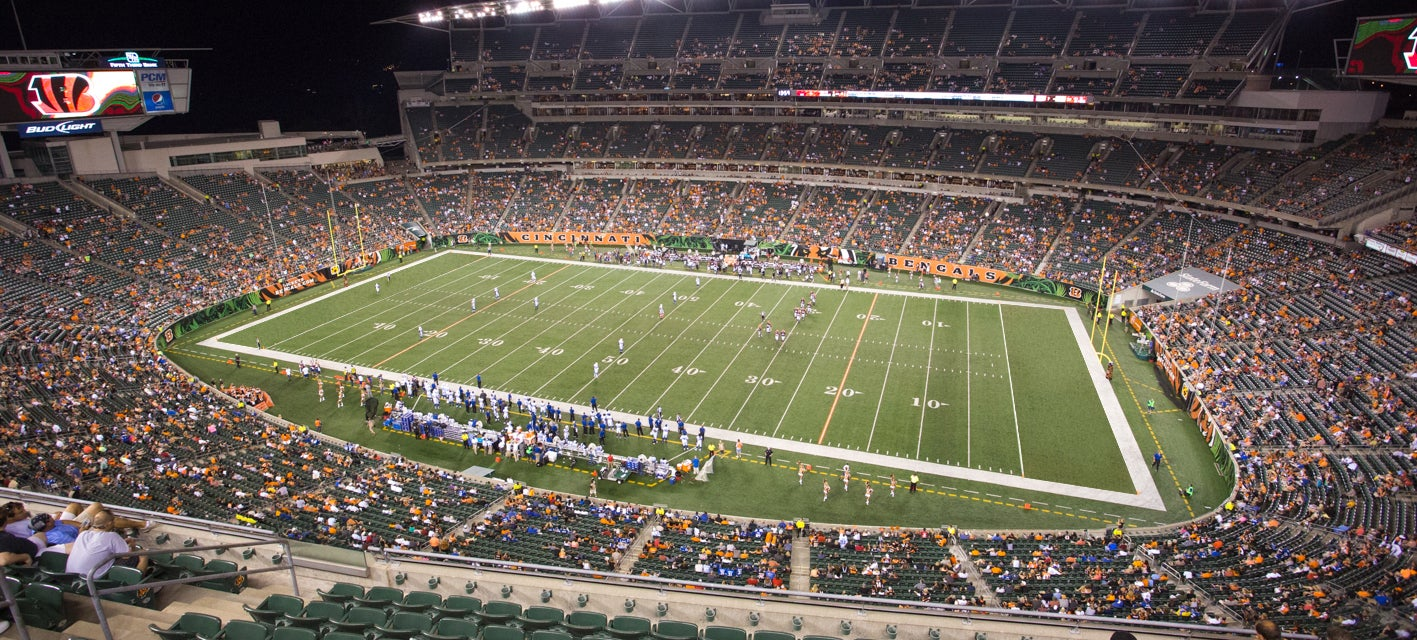 Seat view from Upper Sideline