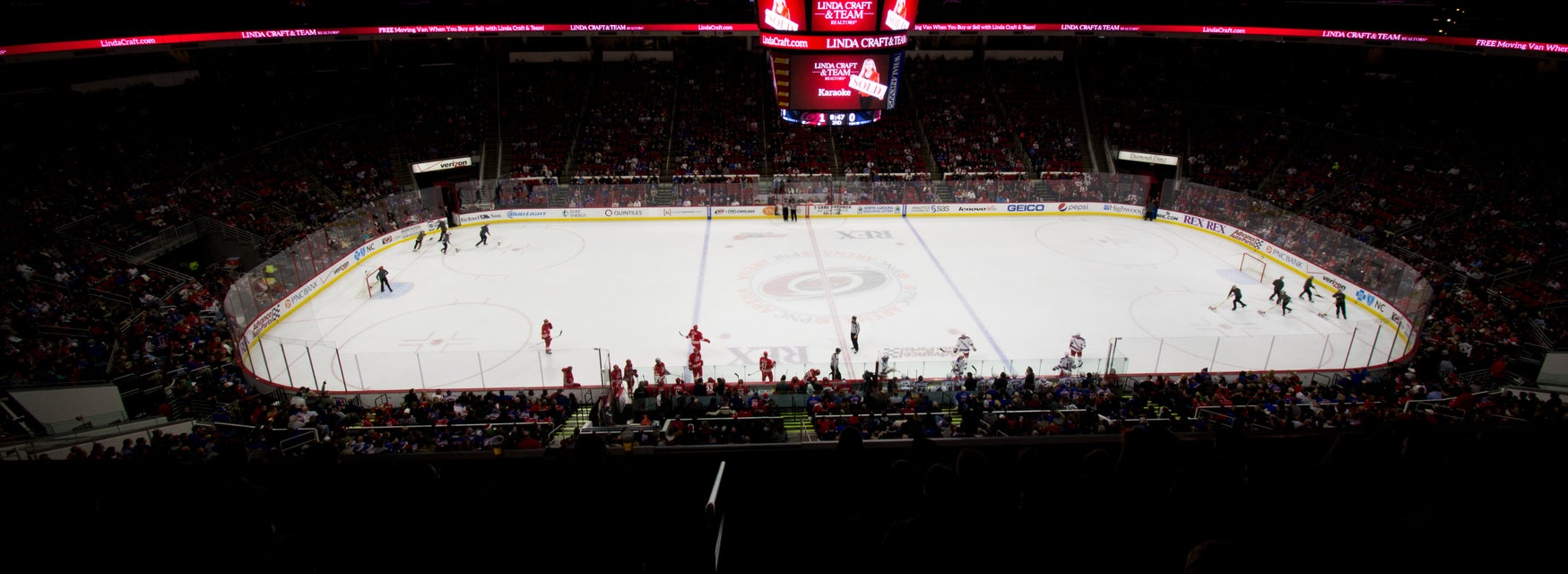 Seat view from Center Ice Club