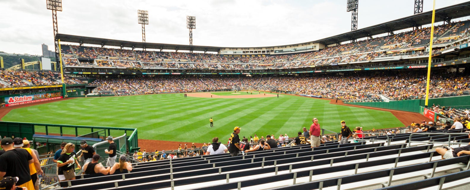 Seat view from Upper Bleacher Reserved