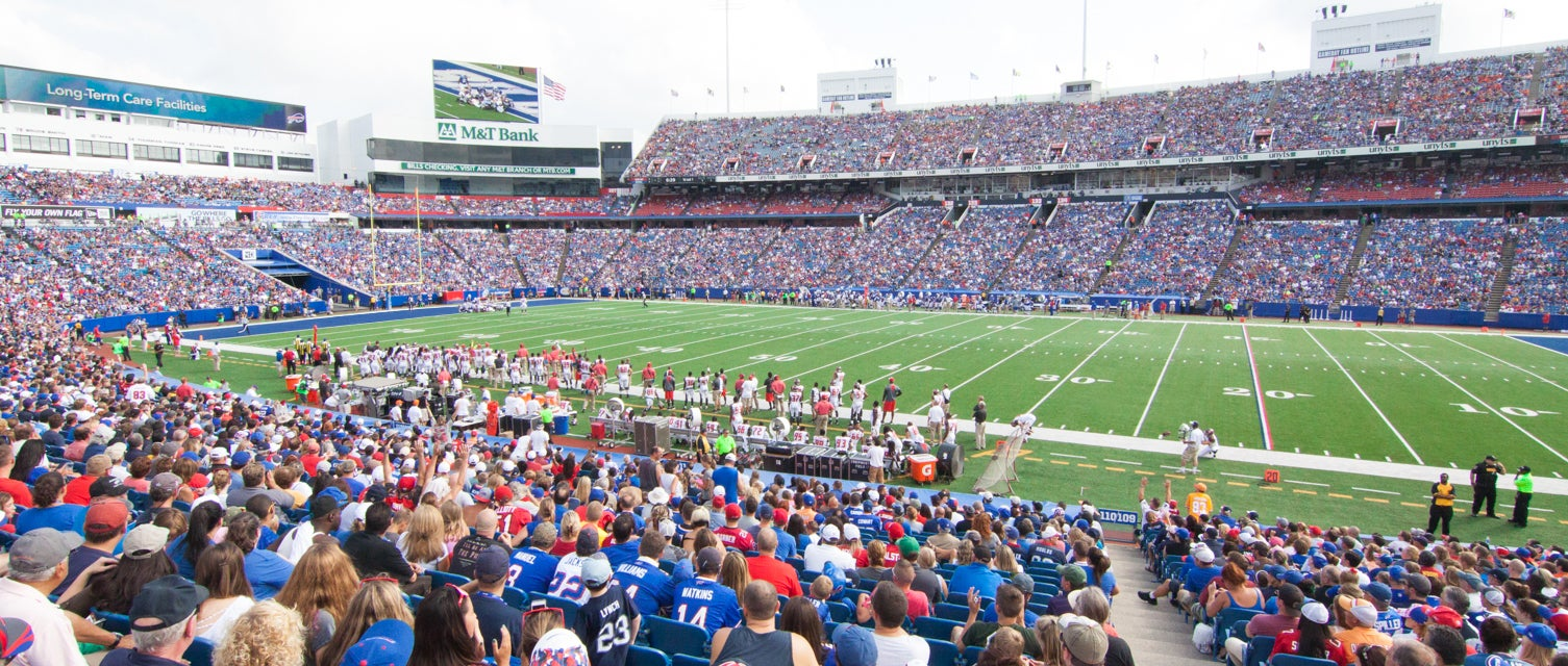 Seat view from Lower Level Sidelines