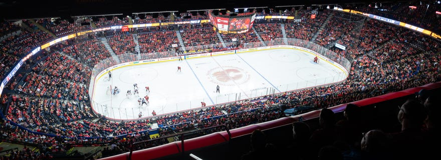 New Jersey Devils at Calgary Flames at Scotiabank Saddledome