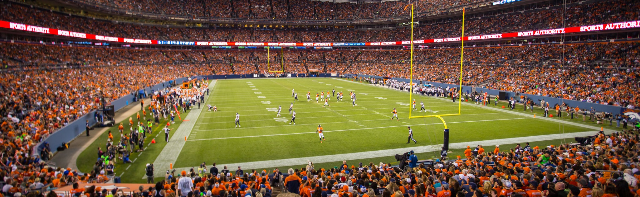 Seat view from Field Level End Zone