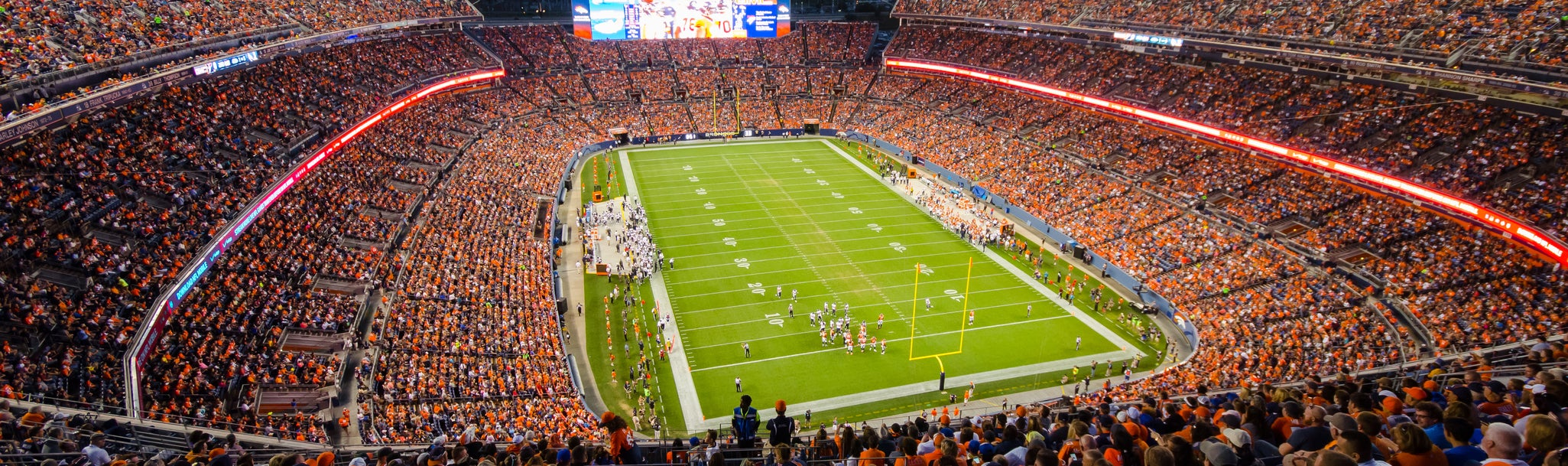 Seat view from Upper Level End Zone