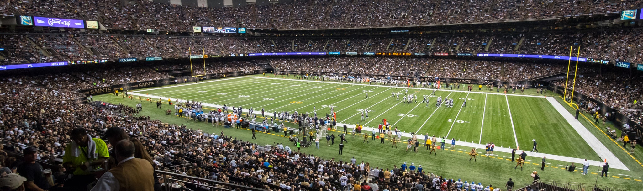 Seat view from Loge Club Sideline Two