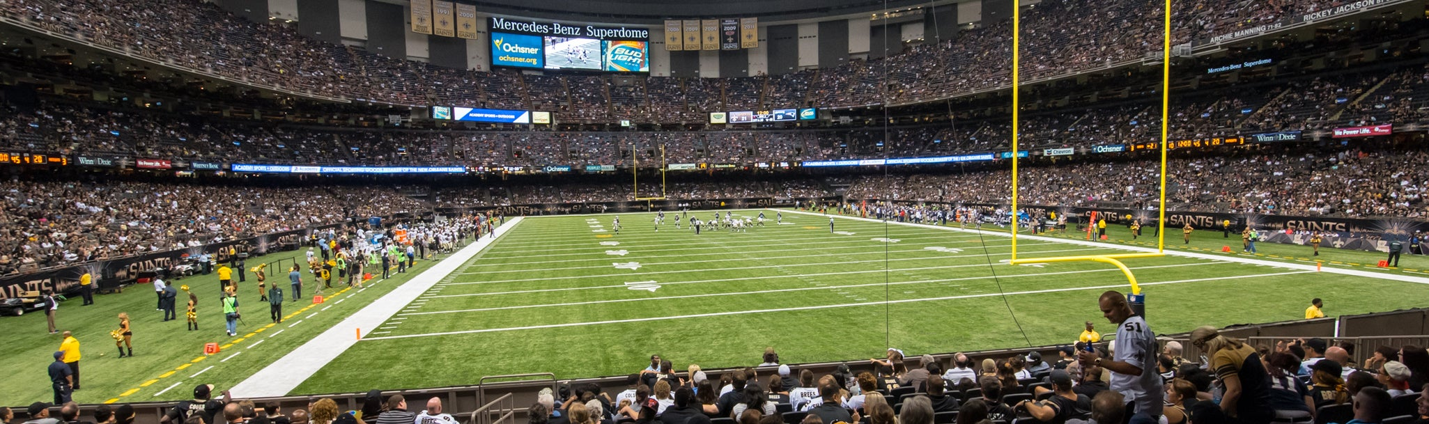 Seat view from Plaza End Zone Lower