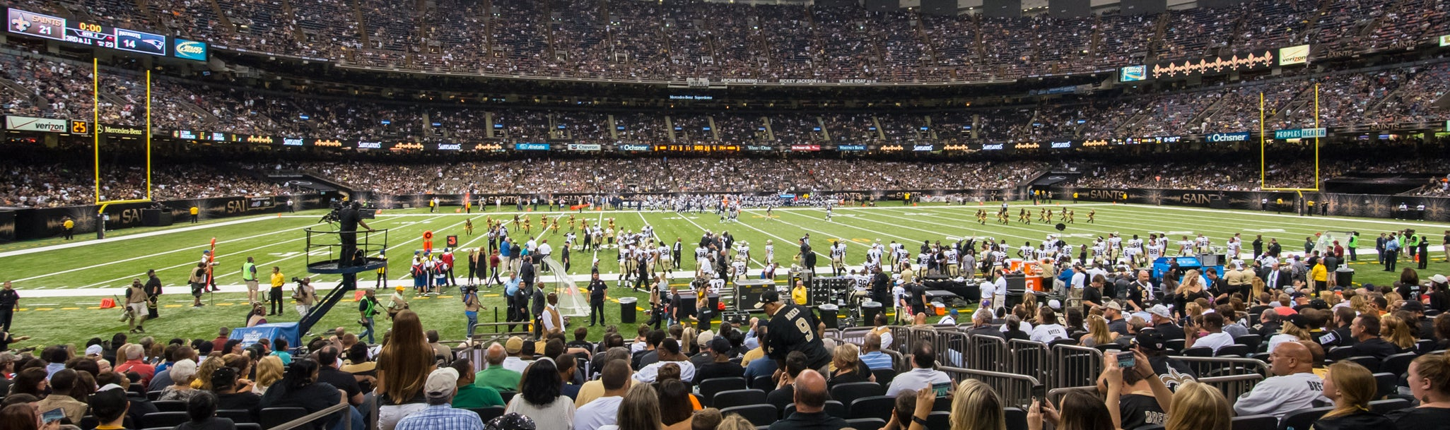 Seat view from Bunker Club Sideline