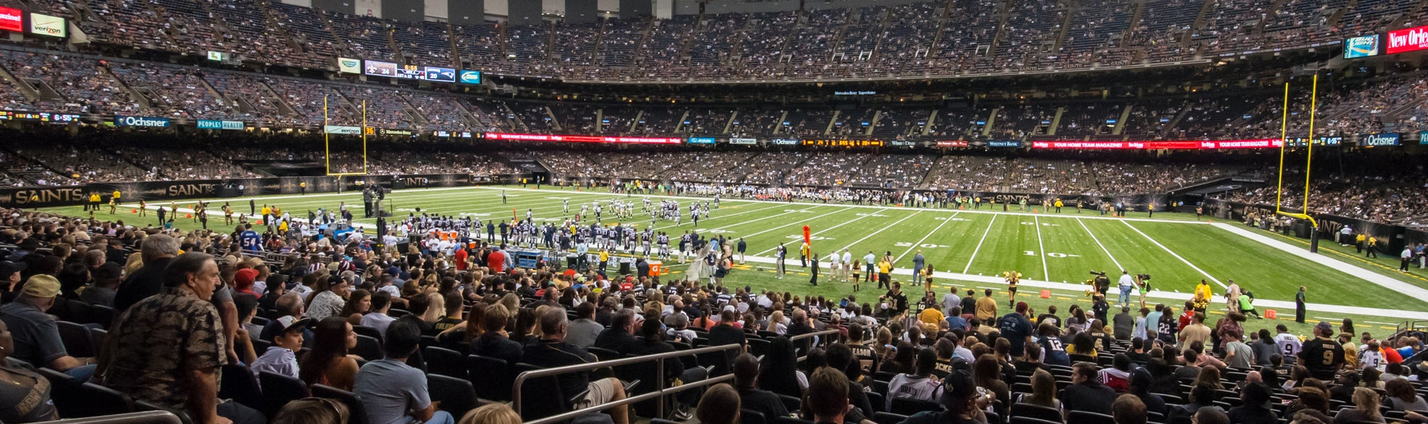 Seat view from Plaza Club Sideline